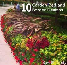 10 Bed and Border designs that can be done by the home owner Garden Junk, Love Garden, Shade Garden, Garden Beds, Lawn And Garden, Dream Garden, Outdoor Plants, Outdoor Gardens, Outdoor Spaces