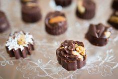 Raw čokoládové pralinky