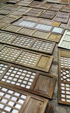 capiz shell window panels. You really gotta see these things in person. They are beautiful!