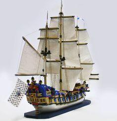 69 Lego Old Ships Ideas – How to build it Bateau Pirate Lego, Bateau Lego, Lego Pirate Ship, Lego Ship, Pirate Ships, Legos, Lego Boat, Lego Creator Sets, Big Sea