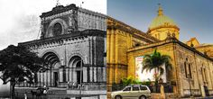 Metro Manila Landmarks Then and Now Photos Side By Side Photo, Then And Now Photos, Our Country, Manila, Philippines, Taj Mahal, Cathedral, The Past, Old Things