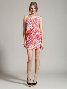Jersey One Shoulder Medea Dress by Emilio Pucci
