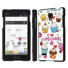 Buy NakedShield LG Optimus L9 P769 / Optimus 4G (Doodles Cupcakes) Total Hard Armor Art Phone Case NEW for 9.99 USD | Reusell