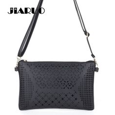 ba96b6a7618aa JIARUO Vintage Hollow Out Flower Envelope Bag Small Women Leather Crossbody  bag Shoulder bag Messenger bag Clutch Handbag Purses. Umhängetasche ...