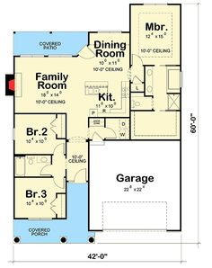 Plan Craftsman Cottage with Many Options really like this one! Craftsman Cottage with Many Options - Ranch House Plans, Best House Plans, Dream House Plans, House Floor Plans, Craftsman Cottage, Cottage Plan, Craftsman House Plans, Craftsman Homes, Cottage House