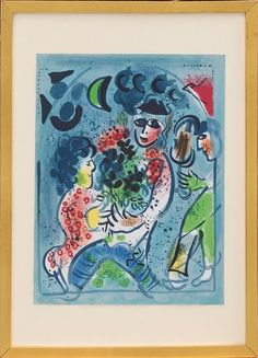 Litografia de Marc Chagall, 33cm x 25cm, 2,530 USD / 2,250 EUROS / 8,990 REAIS / 16,530 CHINESE YUAN