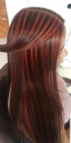 Red Highlights, Gorgeous Hair, Long Hair Styles, Sexy, Beauty, Long Hair, Awesome Hair, Long Hair Hairdos, Long Haircuts