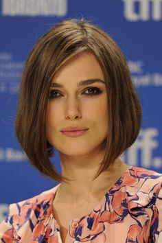 Short hair Keira Knightley. The front view of the other pic I pinned where she is tilting her head, if that makes sense haha.