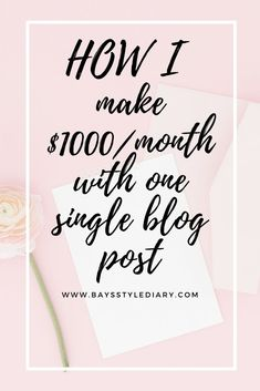 Earn Money From Home, Make Money Blogging, Way To Make Money, Make Money Online, Blogging Ideas, Make Blog, How To Start A Blog, Blog Planner, Creating A Blog