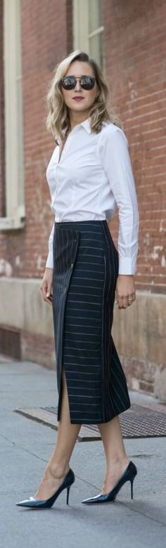 || Rita and Phill specializes in custom skirts. Follow Rita and Phill for more tips on the unwritten rules of office fashion!   https://www.pinterest.com/ritaandphill/business-casual-for-casual-offices
