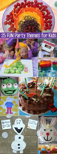 Looking for birthday party theme inspiration for your under 6 year old? Then you've come to the right place! Here's 25 themes that are perfect for this age range, and a whole heap of links to great examples of these themes in action - click through for ideas for party food, party games and activities, loot bags and the all important birthday cake. If you're anything like me, you'll find it hard to choose just one theme for your next party! 1. ROBOT: Charge your batteries for this fun Robot…