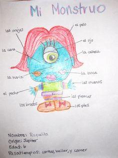 Monster Body Project en Espanol (Dozens of resources for EL CUERPO UNIT)