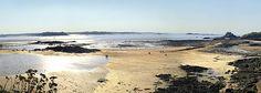 Photographie panoramique de Saint-Malo en Bretagne.