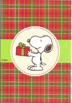 Snoopy & Present Christmas by Mailbox Happiness-Angee at Postcrossing, via Flickr