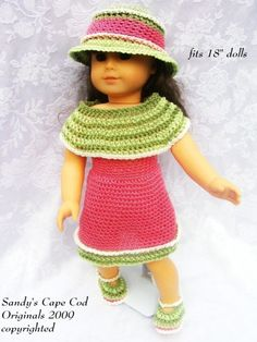 """18""""doll clothing - love this dress"""