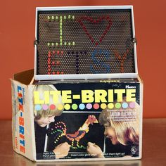 Lite-Brite ... I didn't have one buy my neighbors did. So awesome. #toys #70s #'70s #childhood #nostalgia #litebrite