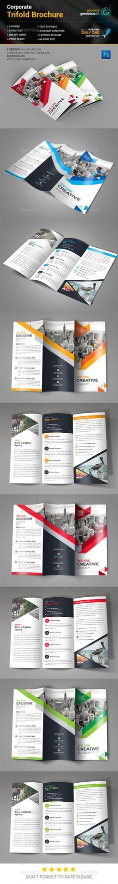 Trifold Brochure Template PSD #design Download: http://graphicriver.net/item/trifold-brochure/13309986?ref=ksioks