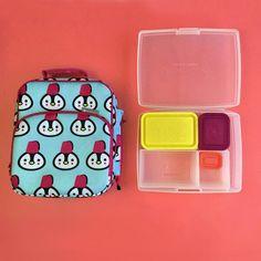 Bentology Bento Lunch Box Kit - Insulated Lunch Bag & Bento Box - Penguin
