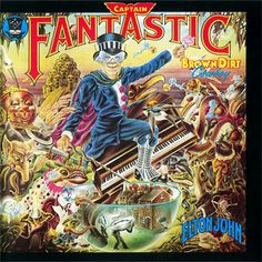 USED VINYL RECORD 12 inch 33 rpm vinyl LP Captain Fantastic and the Brown Dirt Cowboy is the ninth studio album from Elton John, released in 1975. (MCA 2142) in