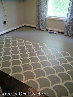 stenciled vinyl sheet flooring