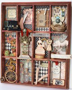 Amazing Olde Curiosity Shoppe altered Curio Cabinet by @Nancy Wethington. All the windows are so detailed and fantastic! #graphic45