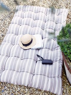 A completely happy place! The perfect Indoor Outdoor Double Cushion from Cox & Cox