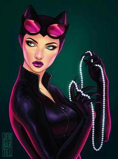 the gotham city sirens by jen bartel Catwoman Cosplay, Batman And Catwoman, Batgirl, Joker, Gotham City, Comic Book Characters, Comic Character, Comic Books, Harley Quinn