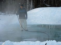 DIY backyard ice rink. When I live in MN and have the space to do this, it's totally going down.