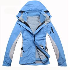 2013 Winter Skiing Jackets For Women Outdoor Snowboarding And Ski Jacket Waterproof Warm Two-in One Piece  Blue Black Red Pink