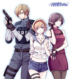 Biohazard|RE 2, Leon Scott Kennedy, Ada Wong, Sherry Birkin