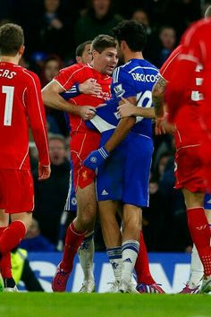 Steven Gerrard squares up to Costa