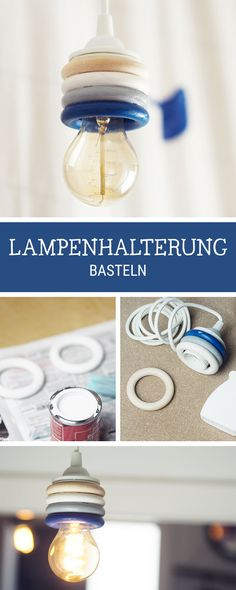 DIY instructions for home: holder for the hanging lamp with wooden rings verzi . - DIY Anleitungen / Do It Yourself: Crafting Tutorials - bilderrahmen