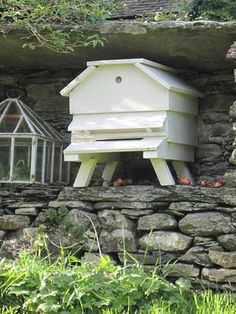 An old beehive at the garden of Beatrix Potter. Might go into beekeeping if I could find a hive like this!