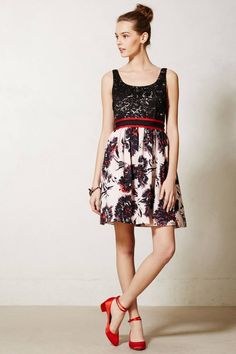 New Anthropologie Peter Som X Made In Kind Brush Stroke Blossoms Dress 12 $248