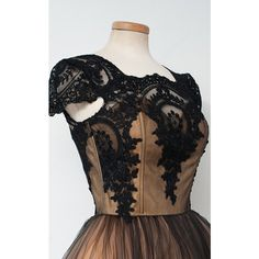 Black Nude Ball Gown Sleeveless Tea Length Square Neckline Tulle... ($149) ❤ liked on Polyvore featuring dresses, lace applique dress, lace tea length dress, nude lace dress, sleeveless dress and sleeveless short dress