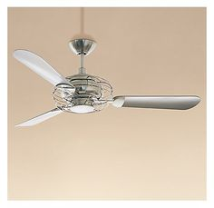 stainless steel ceiling fan - maybe for living room?
