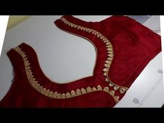 Easy And Beautiful Blouse Back Neck Design Cutting And Stitching/blouse designs Hello Friends, Today i show easy and beautiful blouse back neck design cuttin. Patch Work Blouse Designs, Simple Blouse Designs, Stylish Blouse Design, Salwar Neck Designs, Saree Blouse Neck Designs, Dress Neck Designs, Blouse Designs Catalogue, Designer Blouse Patterns, Clothes Women