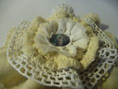 Vintage Blume Shabby Mädchen Cabochon Spitze Leinen Bastelzubehör Tischdeko