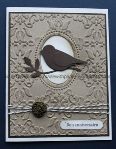 I recently bought the Bird Builder punch and I was excited to start creating cards with it!!! So for my last Monthly Card Class (last Friday), I wanted to use it to make at least one card. For tha...