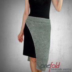fusta de strada handmade Waist Skirt, High Waisted Skirt, Knitwear, Skirts, How To Wear, Handmade, Fashion, Tricot, Moda