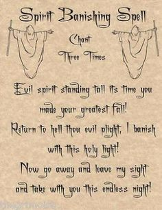 Spirit Banishing Spell, Book of Shadows Page, BOS Pages, Real Witchcraft Spell by Alicia Bryan Dussault