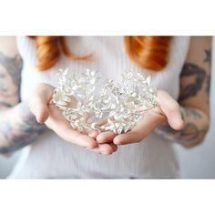 Luxurious Antique Silvered Wedding Crown von PollyMcGearyAntiques