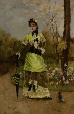 Sa majeste la Parisienne (1880) by Alfred Stevens.