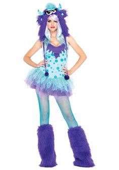 Polka Dotty Monster Costume.  This makes me laugh.  Love it