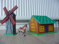 3D House and mill hama beads by mohinderkebalam