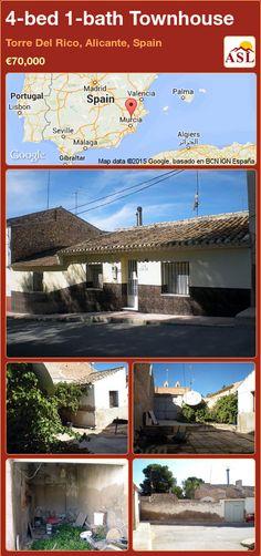 4-bed 1-bath Townhouse in Torre Del Rico, Alicante, Spain ►€70,000 #PropertyForSaleInSpain