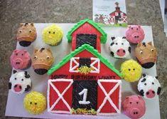 Gateau cupcakes Ferme et animaux