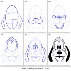 ideas easy cute How to Draw Pluto Face from Mickey Mouse Clubhouse Printable Drawing Sheet by Dr. How to Draw Pluto Face from Mickey Mouse Clubhouse Printable Drawing Sheet by Easy Disney Drawings, Disney Character Drawings, Drawing Cartoon Characters, Disney Sketches, Disney Characters, Cartoon Disney, Disney Art, Disney Mickey, Pluto Disney