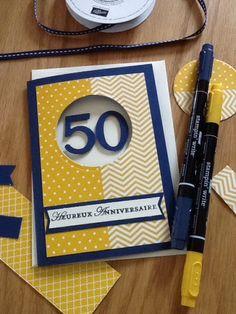 exemple scrapbooking carte anniversaire 50 ans homme