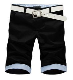 Wholesale Casual  Fashionable Middle Length Men Short Pants----Black  top dresses